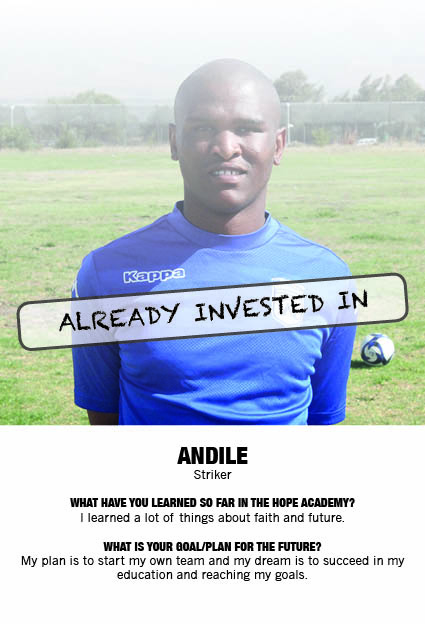 Already invest in Andile